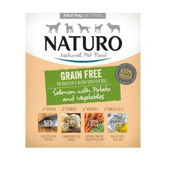Naturo Obrok Adult Grain Free losos i krompir s povrćem 400g