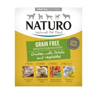 Naturo Obrok Adult Grain Free piletina i krompir s povrćem 400g