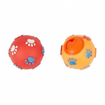 Duvo+ Igračka za pse - Vinyl lopta dispenzer za poslastice sa motivima šapa