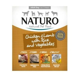 Naturo Obrok Adult Piletina, jagnjetina i riža s povrćem 400g