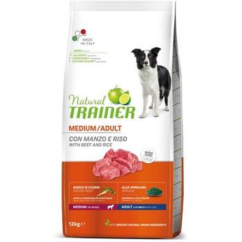 Trainer Natural Dog sa govedinom i pirinčem za odrasle pse srednjih rasa 12kg
