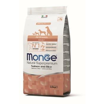 Monge Losos i pirinač za sve rase - Adult 2.5kg