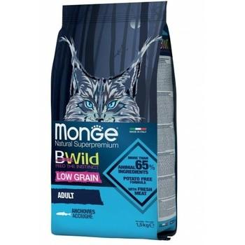 Hrana za mačke Bwild Low Grain Inćun - Adult Cat 1.5kg