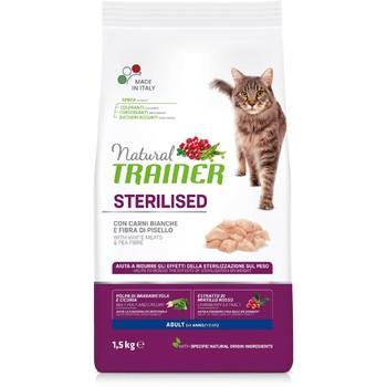 Trainer Natural Cat belo meso za odrasle sterilisane mačke 1.5kg