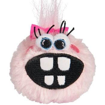 Rogz Fluffy Grinz plišana lopta za štence M Pink