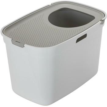 Moderna Top Cat toalet za mačku-sivo-bela + sivi poklopac