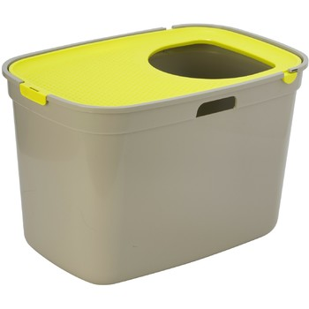 Moderna Top Cat toalet za mačku-siva + žuti poklopac