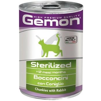 Gemon Cat Komadići zečetine za sterilisane mačke - konzerva 415g