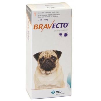 Intervet Bravecto Tableta Za Zvakanje Za Pse 4.5-10Kg 250Mg