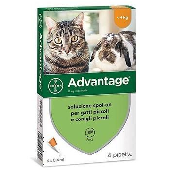 Bayer Advantage Cat ≤4kg 1Kom, Ampula SpotOn za mačke protiv buva