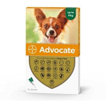 Bayer Advocate Dog 0-4Kg, Ampula SpotOn za pse protiv ekto i endoparazirta