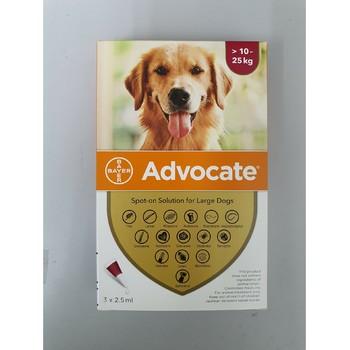 Bayer Advocate Dog 10-25Kg 2.5Ml, Ampula SpotOn za pse protiv ekto i endoparazirta