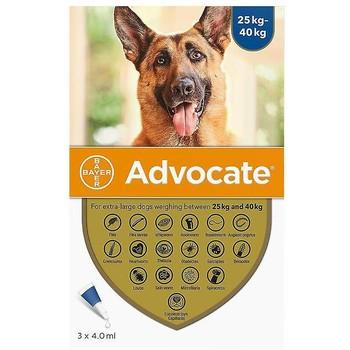 Bayer Advocate Dog +25Kg 4Ml, Ampula SpotOn za pse protiv ekto i endoparazirta