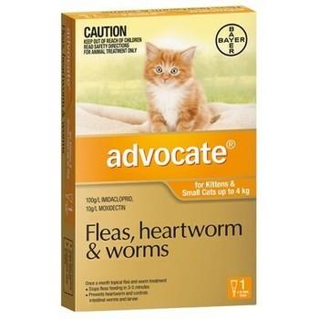 Bayer Advocate Cat 0-4Kg 0.4Ml, Ampula SpotOn za mačke protiv ekto i endoparazirta