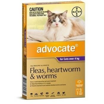 Bayer Advocate Cat 4-8Kg 0.8Ml, Ampula SpotOn za mačke protiv ekto i endoparazirta