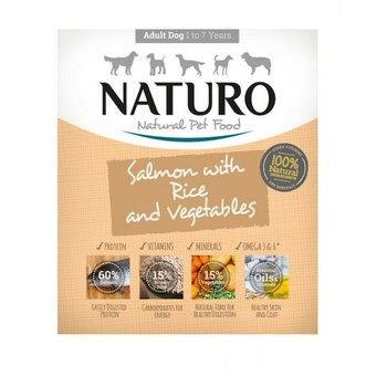 Naturo Obrok Adult Losos i pirinac s povrćem 400g