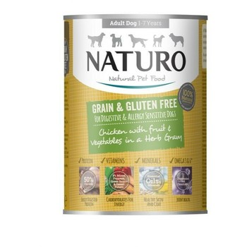 Naturo Konzerva Grain Free piletina 390g