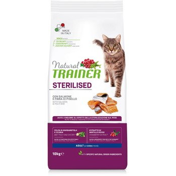 Trainer Natural Cat losos za odrasle sterilisane mačke 10kg