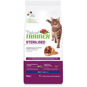 Trainer Natural Cat Šunka za odrasle sterilisane mačke 10kg