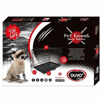 Duvo+ Kavez za pse Ninja Edition sa kliznim vratima 76X53X61 cm crna