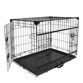 Duvo+ Kavez za pse Ninja Edition sa kliznim vratima 122X76X84 cm crna