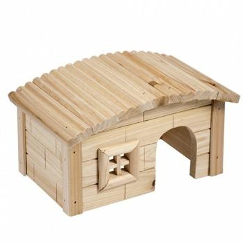 Duvo+ Drvena kućica za sitne životinje Dome Roof 20.5X13X12cm