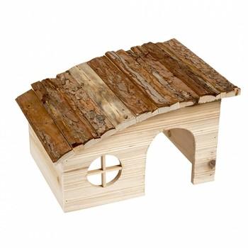 Duvo+ Drvena kućica za sitne životinje Shed Roof 31X23X18cm