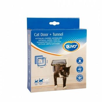 Duvo+ Vratanca za mačke+Tunel 19X19.7cm Bela