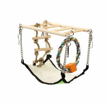 Duvo+ Drveni viseći most sa ljuljaskom 17X22X15cm
