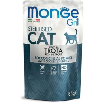 Monge Cat Grill sos Pastrmka za sterilisane mačke 85g