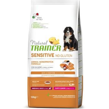 Trainer Natural Sensitive No Gluten Puppy & Junior sa lososom za pse srednjih i velikih rasa 12kg