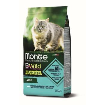 Hrana za mačke BWild Grain Free Bakalar, sočivo, krompir - Adult cat 1.5kg