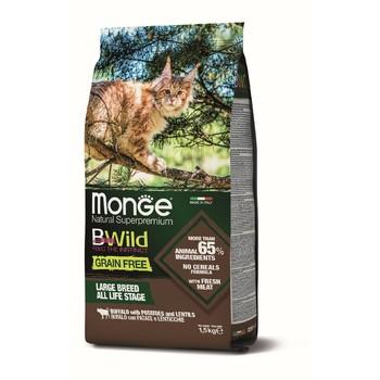 Hrana za mačke BWild Grain Free Bizon, sočivo, krompir - Adult cat 1.5kg