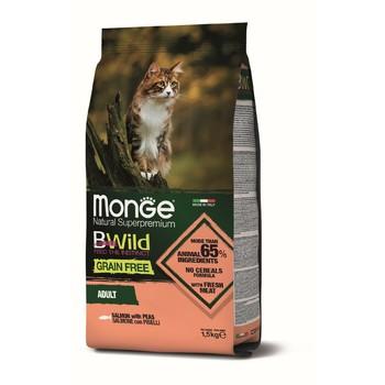 Hrana za mačke BWild Grain Free Losos i grašak - Adult cat 1.5kg