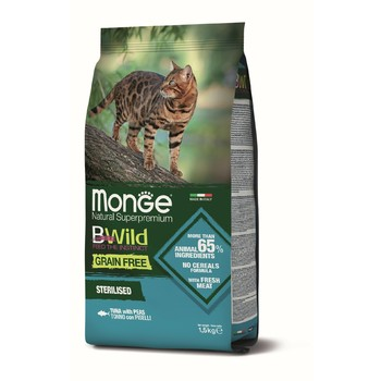 Hrana za mačke BWild Grain Free Tunjevina i grašak za sterilisane mačke 1.5kg