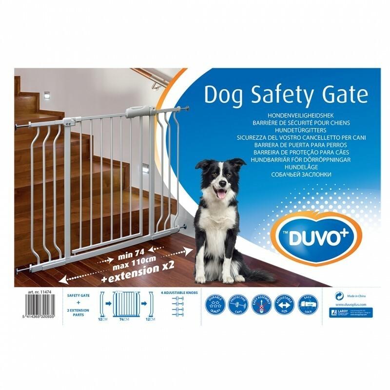 Duvo+ Sigurnosna kapija za pse 74-110X79cm bela