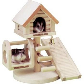 Flamingo Kućica za sitne životinje - Playground Treehouse 21X22X16cm