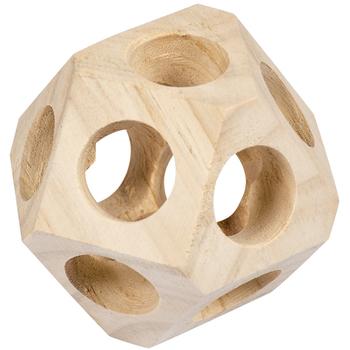 Duvo+ Drvena lopta za igru 10x10x10cm