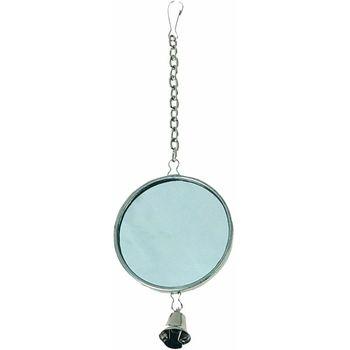 Flamingo Ogledalo za ptice okruglo metalno